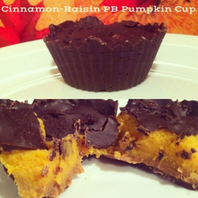 Cinnamon-Raisin Pb Pumpkin Cup