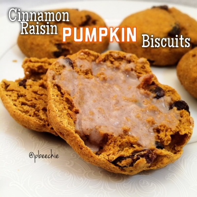 Cinnamon Raisin Pumpkin Biscuits