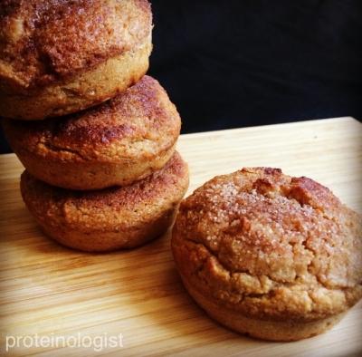 Cinnamon Sugar(Less) Protein Muffins