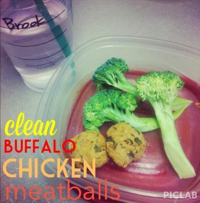 Clean Buffalo Chicken Meatballs
