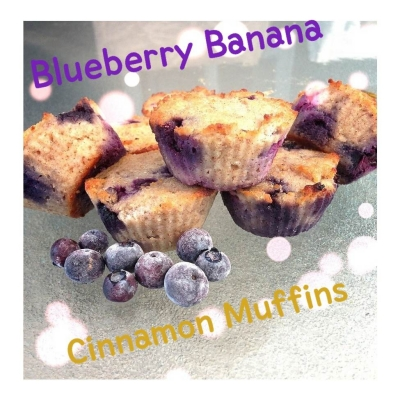 Clean Eating Blueberry Banana Cinnamon Muffins