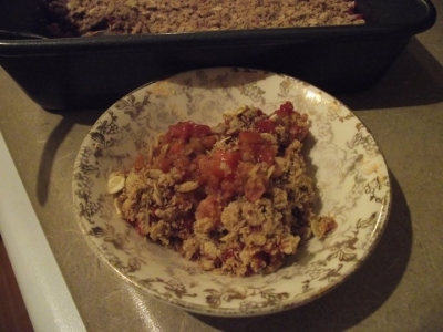 Clean-Eating Rhubarb Crisp