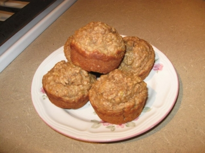 Clean Eating Whole Wheat Banana Muffins