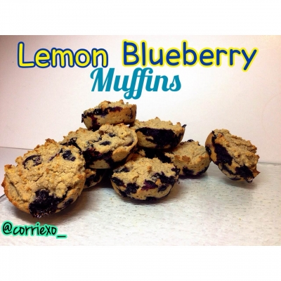 Clean Lemon Blueberry Muffins