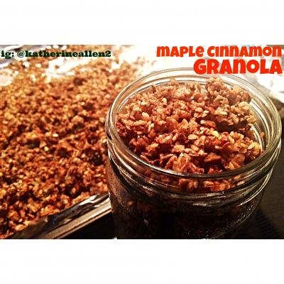 Clean Maple Cinnamon Granola
