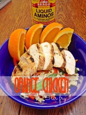 Clean Orange Chicken Stir Fry