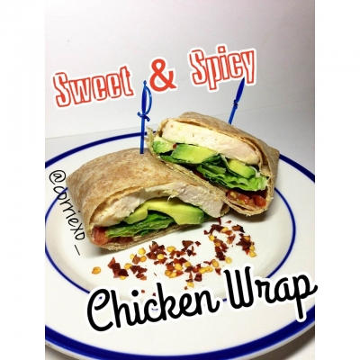Clean Sweet & Spicy Chicken Wrap