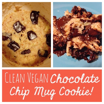 Clean Vegan Chocolate Chip Mug Cookie