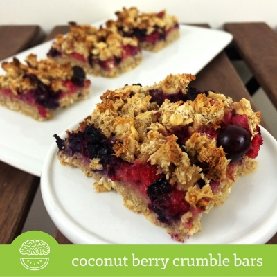 Coconut Berry Crumble Bars