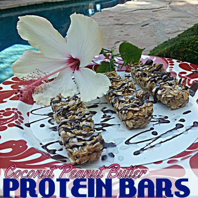 Coconut Peanut Butter Protein Bars