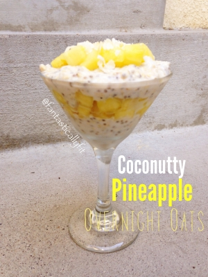 Coconutty Pineapple Overnight Oats