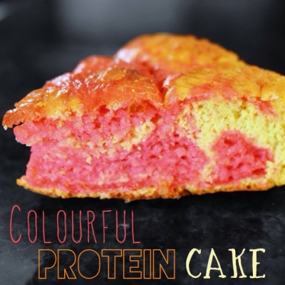 Colourful Protein Cake