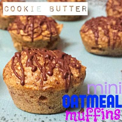 Cookie Butter Mini Oatmeal Muffins