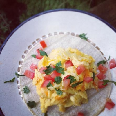 Corn Tortilla Scramble