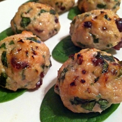 Cran-Apple Turkey Meatballs