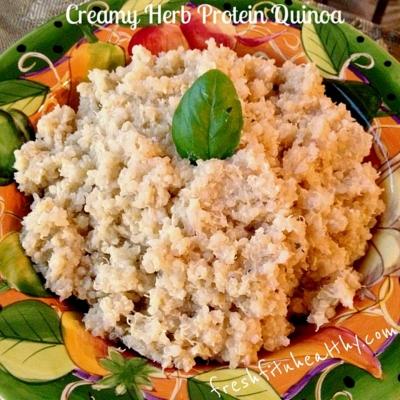 Creamy Herb Protein Quinoa
