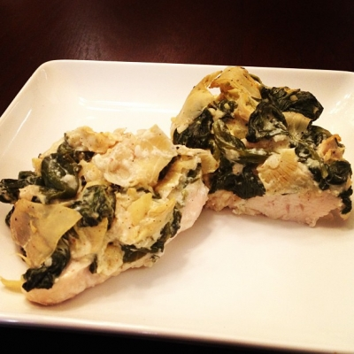 Creamy Spinach & Artichoke Chicken
