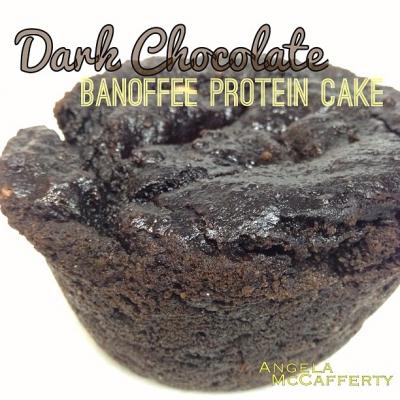 Dark Chocolate Banoffee Protein Cake