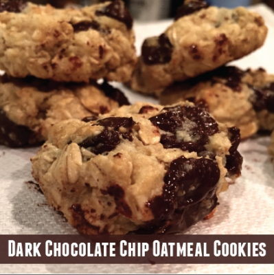 Dark Chocolate Chip Oatmeal Cookies