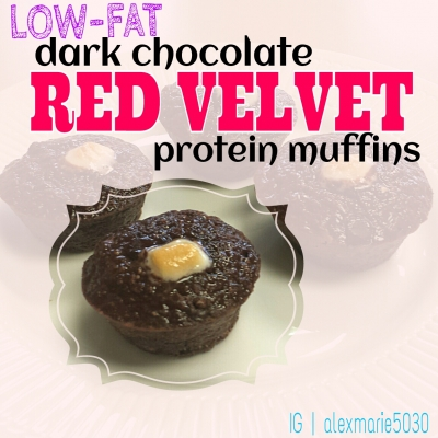 Dark Chocolate Red Velvet Muffins