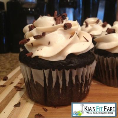 Dark Chocolate Protein Cupcakes