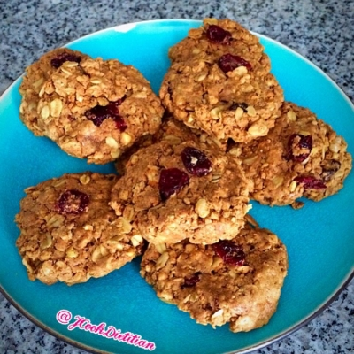 Easy, No Bake Four Ingredient Protein Cookies