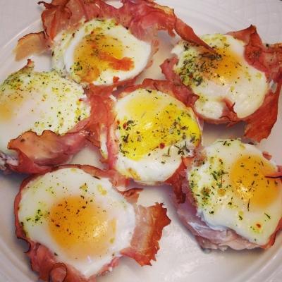 Egg & Ham Breakfast Cups
