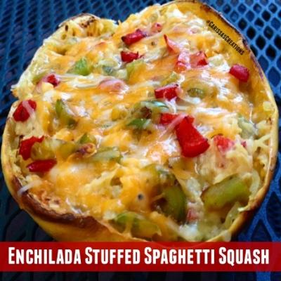 Enchilada Stuffed Spaghetti Squash