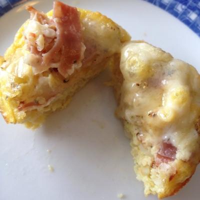 Fifteen-Min Cheddar Brie Prosciutto Potato Egg Cups