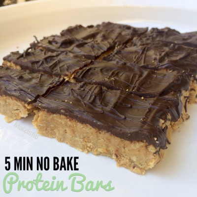 Five Minute No Bake Protein Bars