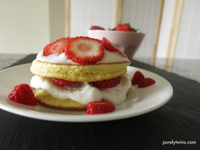 Four Ingredient Strawberry Shortcake Single Serving