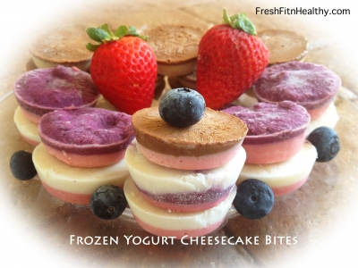 Frozen Greek Yogurt Cheesecake Bites