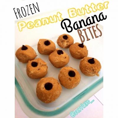 Frozen Peanut Butter Banana Bites