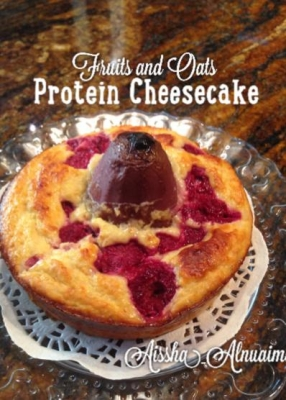 Fruits and Oats Protein Cheesecake