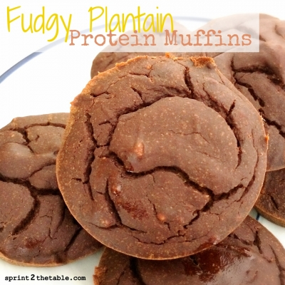 Fudgy Plantain Protein Muffins