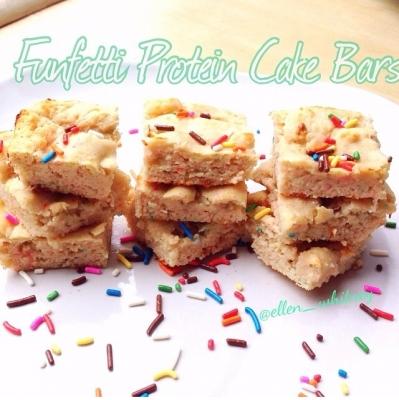 Funfetti Protein Cake Bars