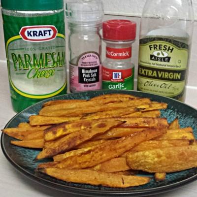Garlic Parmesan Sweet Potato Fries