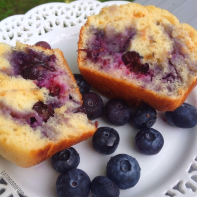 Giant Blueberry Bliss Protein Muffins