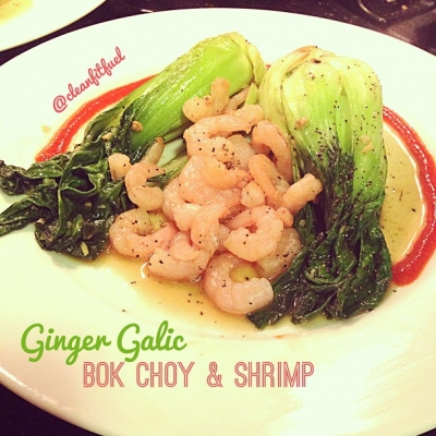 Ginger Garlic Bok Choy & Shrimp