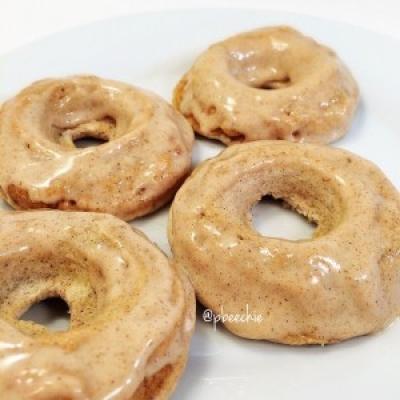 Glazed Banana Bread Protein Donuts