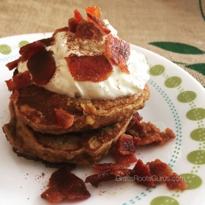 Gluten Free Bacon Pumpkin Pancakes