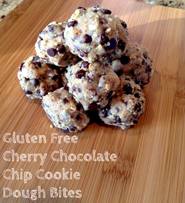 Gluten Free Cherry Chocolate Chip Cookie Dough Bites