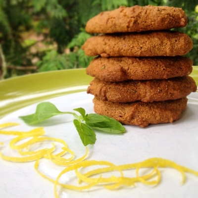 Gluten-Free Lemon Basil Cookies