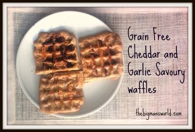 Grain Free Cheddar Garlic Waffles