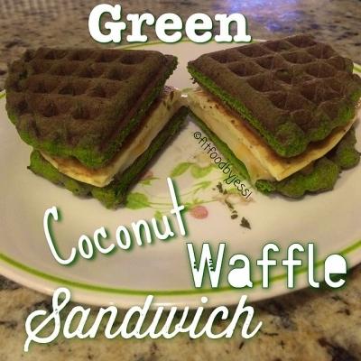 Green Coconut Waffle Sandwich