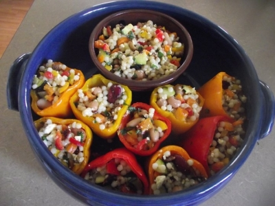 Grilled & Chilled Stuffed Peppers