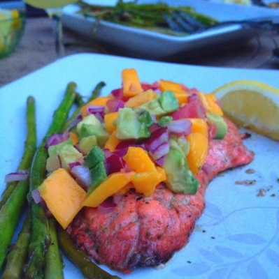 Grilled Cajun Salmon With Homemade Mango Salsa