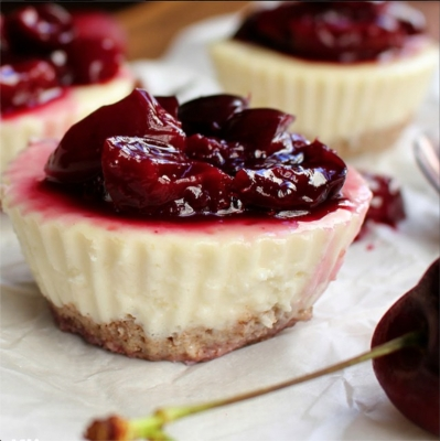 Guiltless Cherry Protein Cheesecake Cups