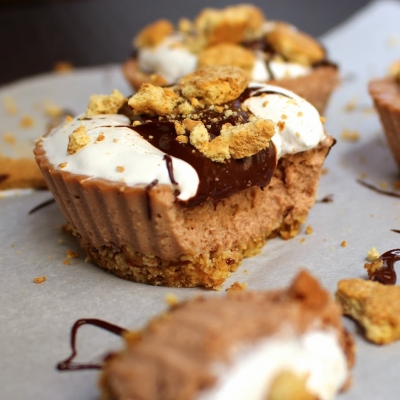 Guiltless S'Mores Protein Cheesecake