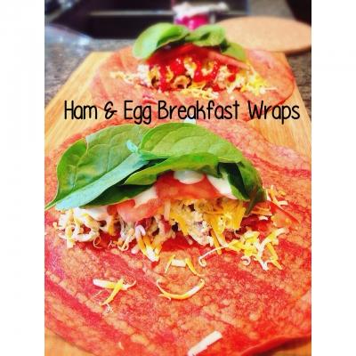 Ham & Egg Breakfast Wraps